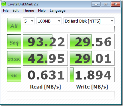 hard drive speed test 2