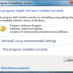 How To Disable This Program Might Not Have Installed Correctly Prompt In Windows 7