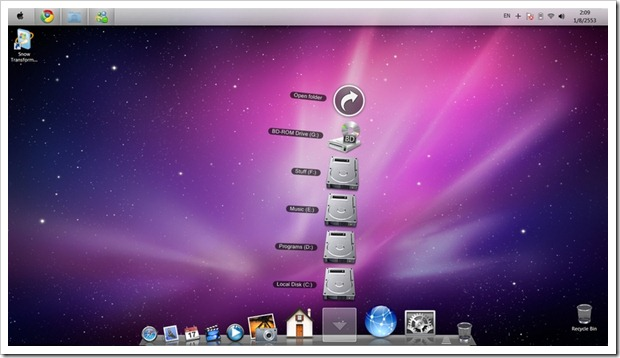 Lion ux pack transforms windows 7 to mac os x lion user interface.