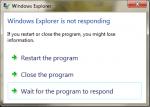 Windows No Responding