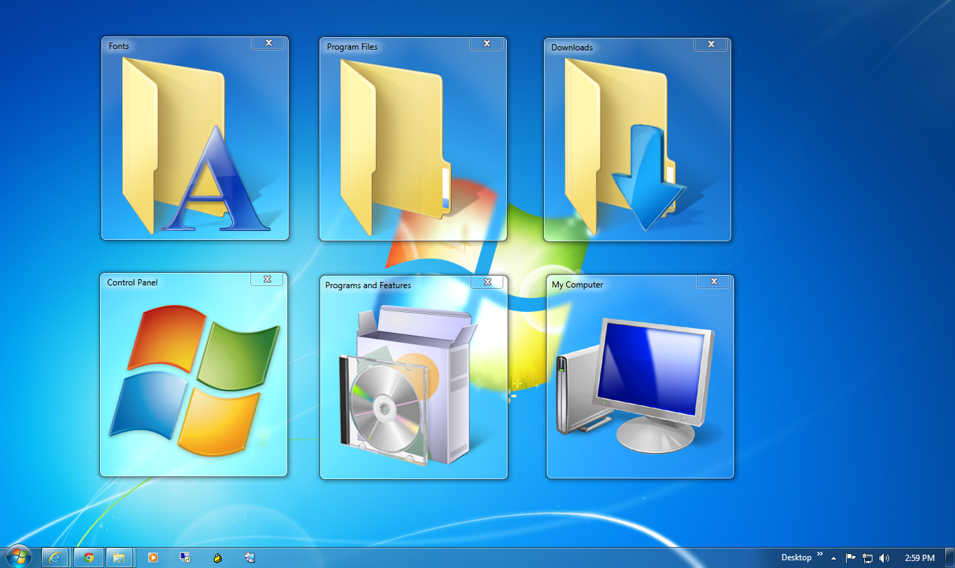 how to make my icon smaller windows 7