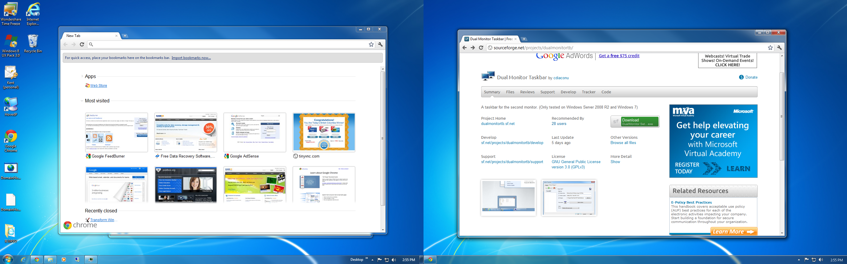 How To Extend Task Bar Across Multiple Monitors in Windows ...