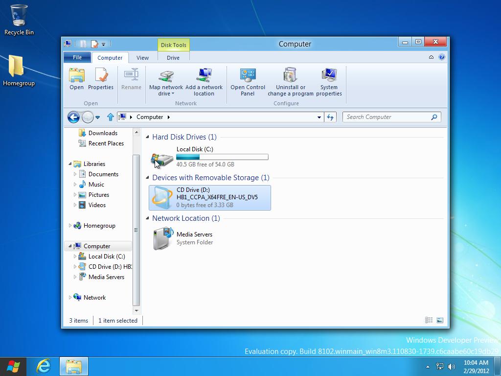 Windows 8 consumer preview 32-bit x86 beta