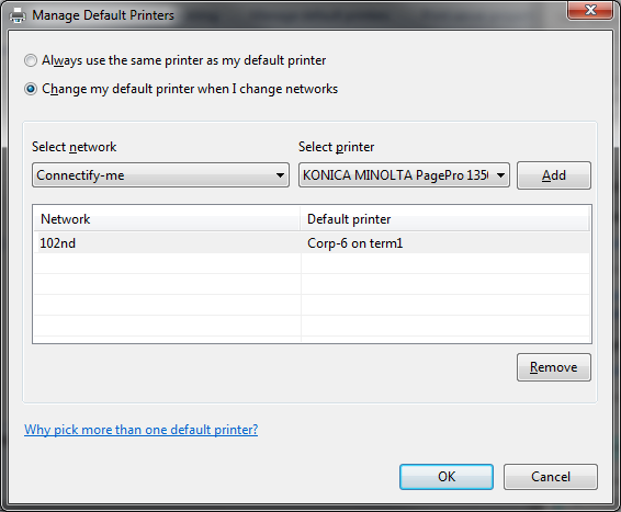 The current default printer is indicated by a check mark. Right-click any printer that isn't set as the default and choose Set as Default Printer from the shortcut menu. If you right-click the printer that is already set as the default, the Set as Default Printer command won't be available on the shortcut menu.