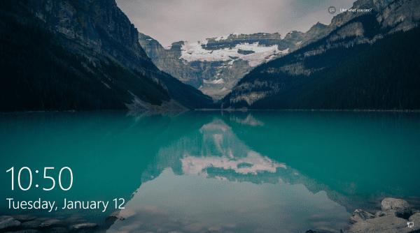 Windows 10 - Lock Screen