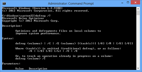 Optimize Drives - Command Line