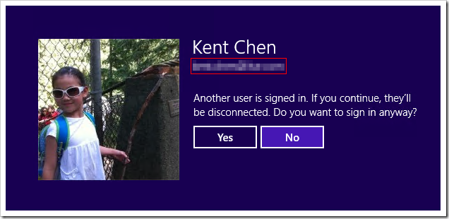 windows 8 single sign in