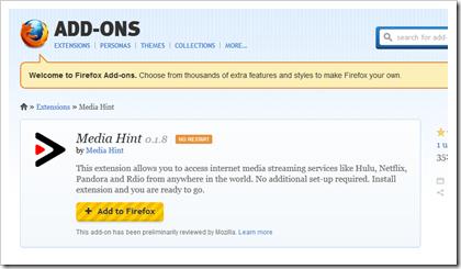 Media Hint - Firefox