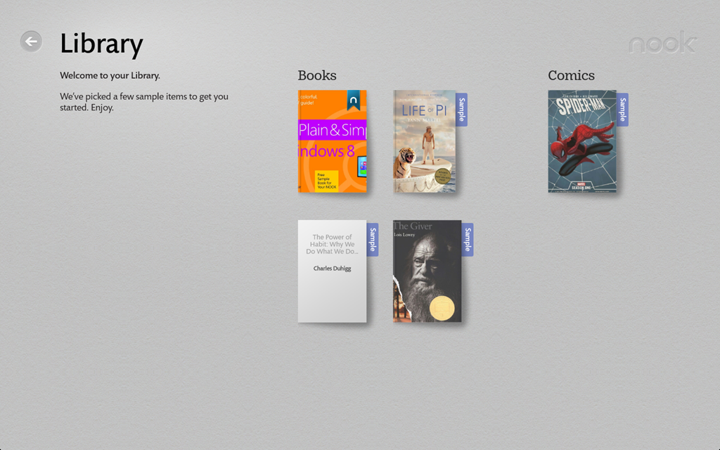 Try barnes noble s nook for windows 8 next of windows for Noble windows
