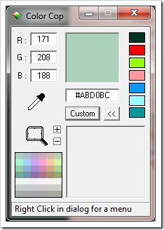 five color picker tools for windows pick color from anywhere on the screen next of windows. Black Bedroom Furniture Sets. Home Design Ideas