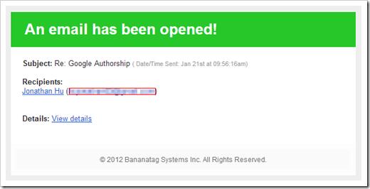 BananaTag - Email opened