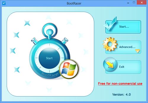 BootRacer - main window