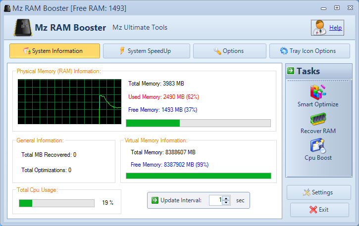 System Memory Optimizing Software Memory Improve Master V6