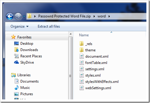 Word - Open as a Zip File