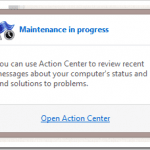 Maintenance in Progress Windows 8 What Does it Mean ?