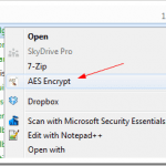 Encrypt and Decrypt Files Directly from Right-Click Context Menu with AES Crypt