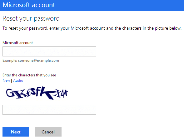 how do you reset your microsoft account password