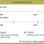 Windows 8 Tweaking Tool: Tiny Windows Borders