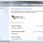 Using Credential Manager to Manage Passwords in Windows 7 [Feature]