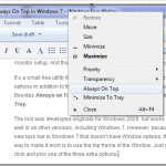 How To Make A Window Stay Always On Top in Windows 7