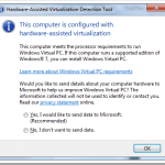 Microsoft Hardware-Assisted Virtualization Detection Tool Checks If Your PC is Windows XP Mode Ready