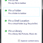 Pin Anything to Taskbar with Taskbar Pinner on Windows 7