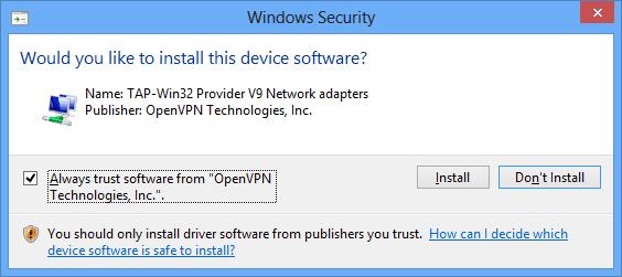 WifiProtector - Installing OpenVPN