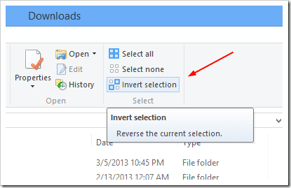 Windows Explorer - Invert selection