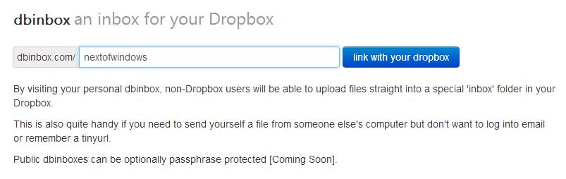 dbinbox - main page