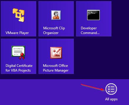 All App - app bar
