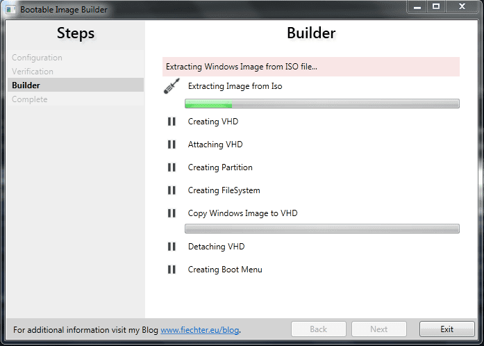Bootable Image Builder - building in process