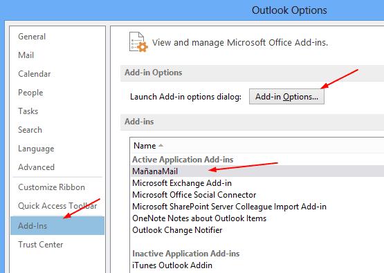 Mañana Mail - Outlook Option