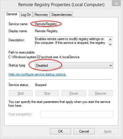 How to remotely enable disable remote desktop connection for Service registry