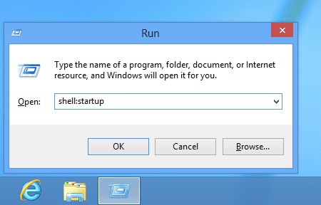 Run - shell - startup