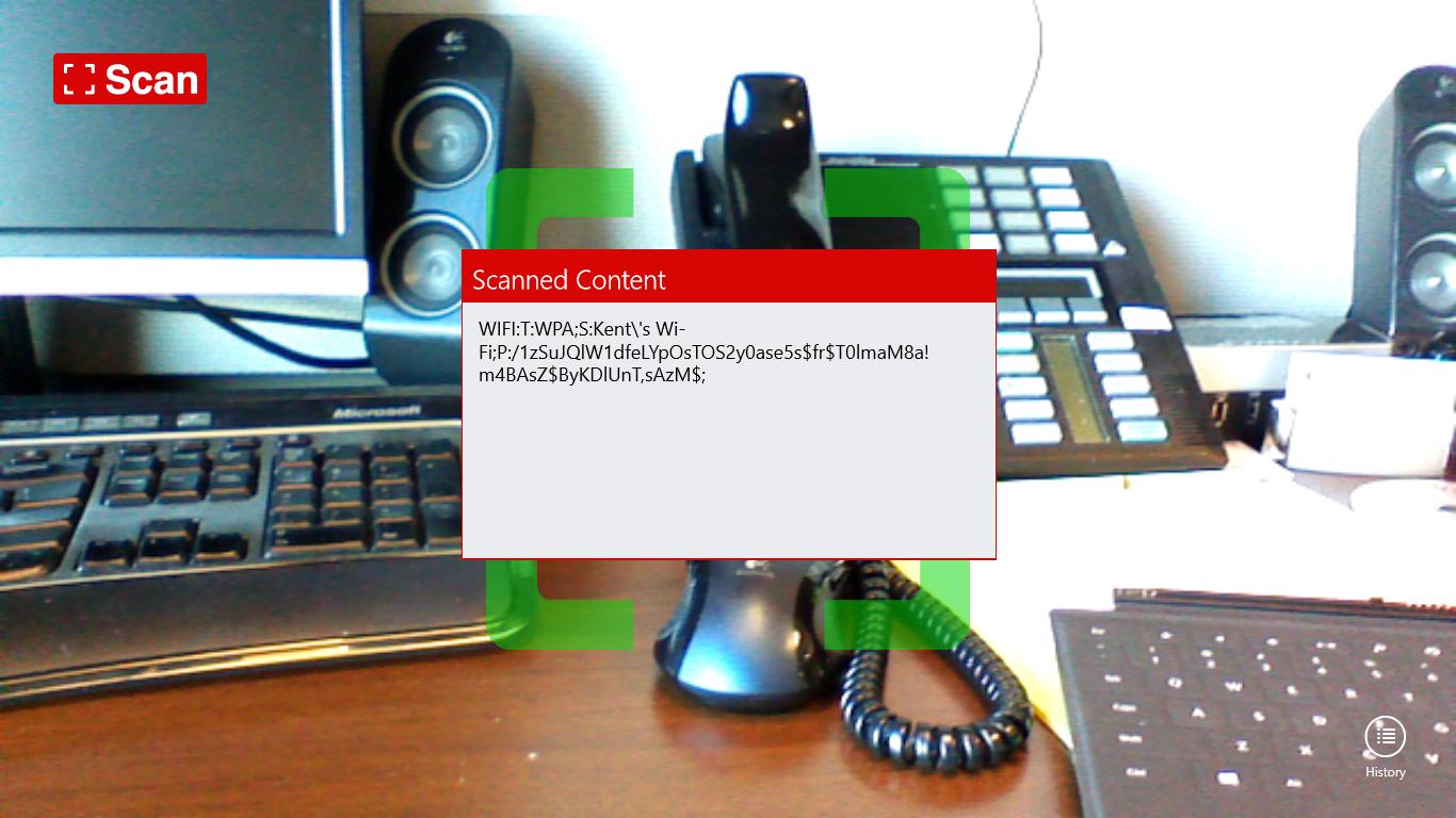 Scan - QR Code - Sharing Wi-Fi