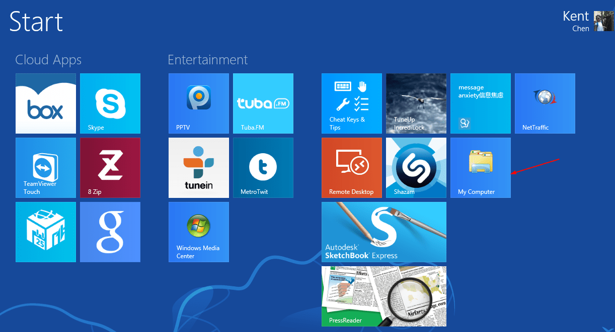 Windows 8 Trick: Add A My Computer Tile On Start Screen