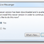 live messenger update forced