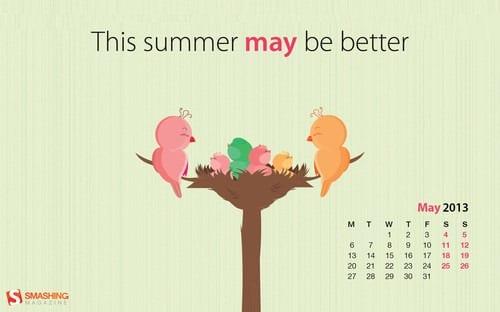 Calendar Theme Wallpaper : Download smashing magazine desktop wallpaper calendar may