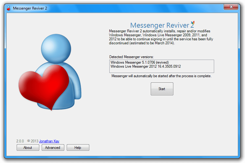Windows Live Messenger 2008 Windows Live Messenger Via
