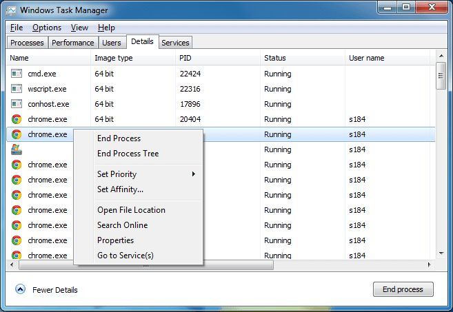 DBCTaskman - Details tab