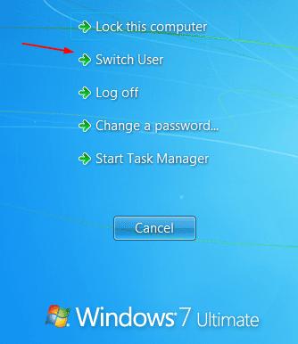 Switch User from Ctrl Alt Del