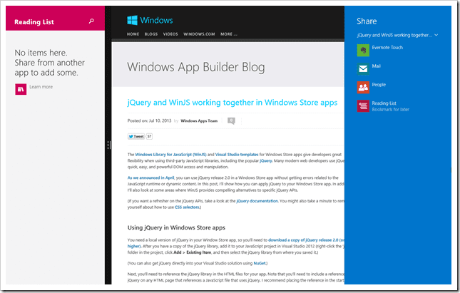 how to use reading list app effectively on windows 8 1