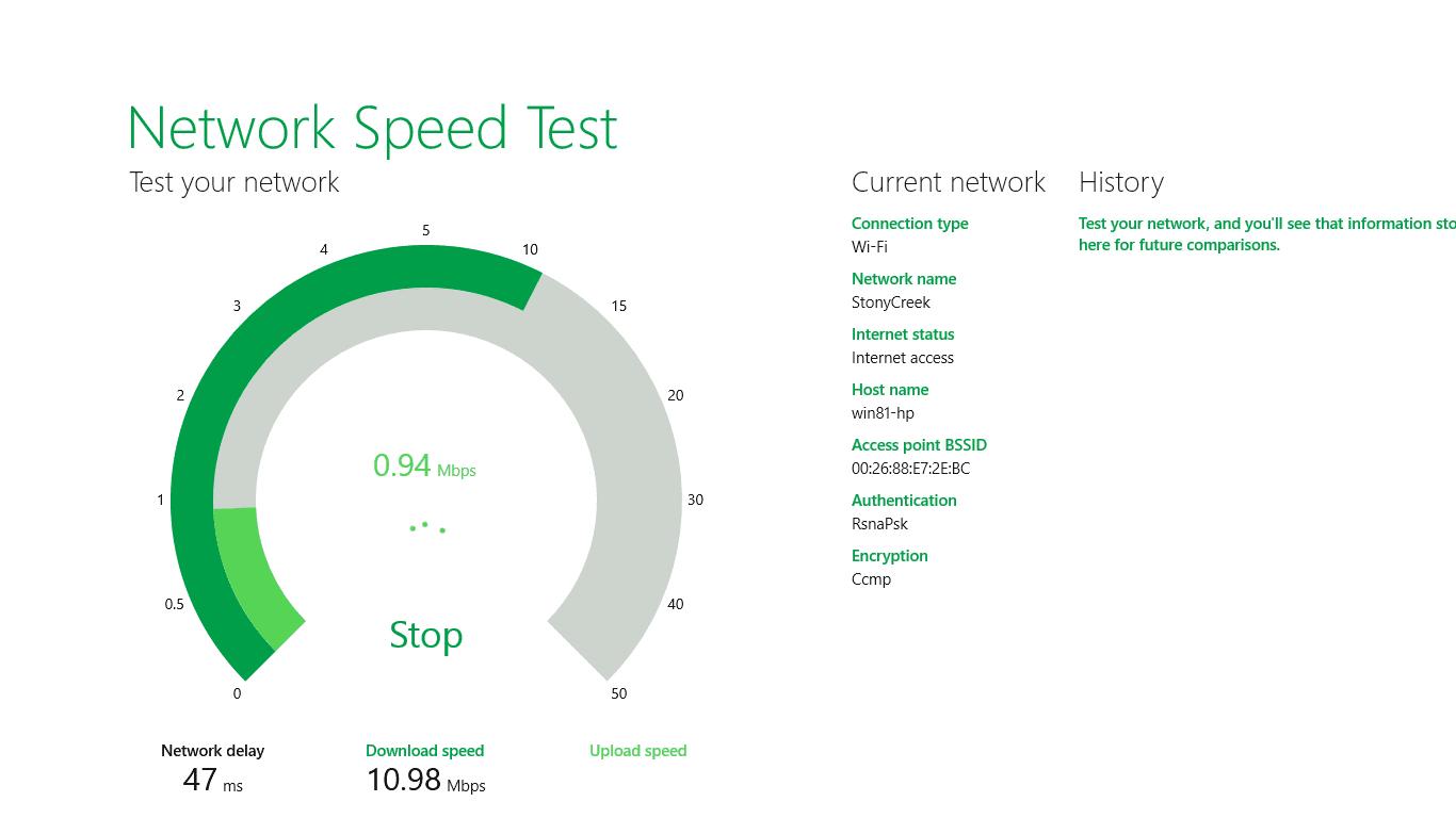 Figure 2 - testing upload speed