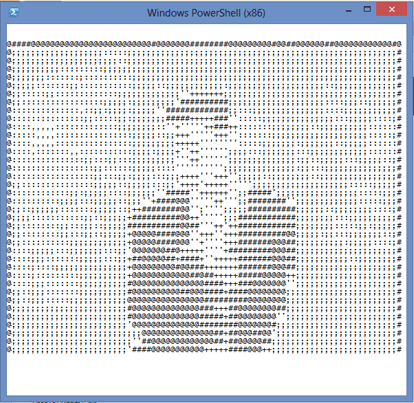 PowerShell fun - Rick ASCII
