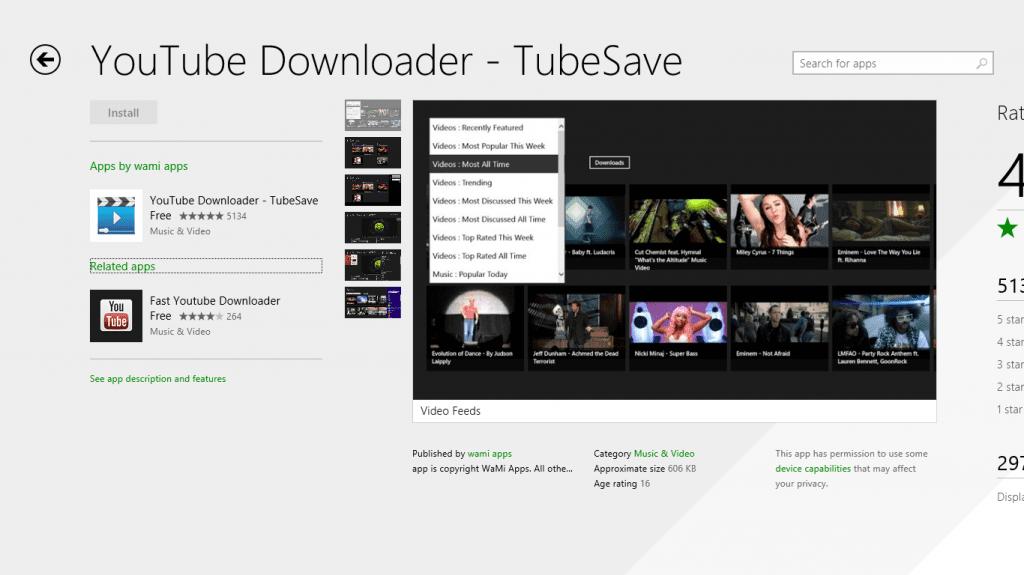 Free Downloader الفيديو والفيسبوك 2016 TubeSave-store-app-1