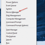 Figure 1 - Launch Device Manager from Win+X menu