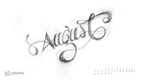Aug 13 Handwritten August Preview Thumb