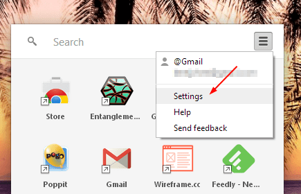 Chrome App Launcher Settings