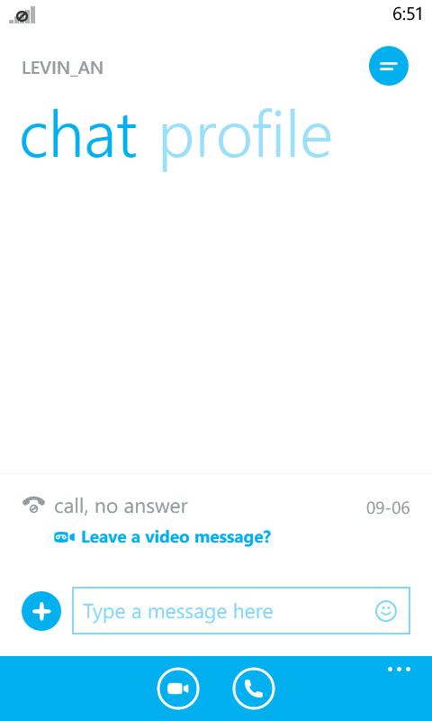 Skype on Windows Phone 8