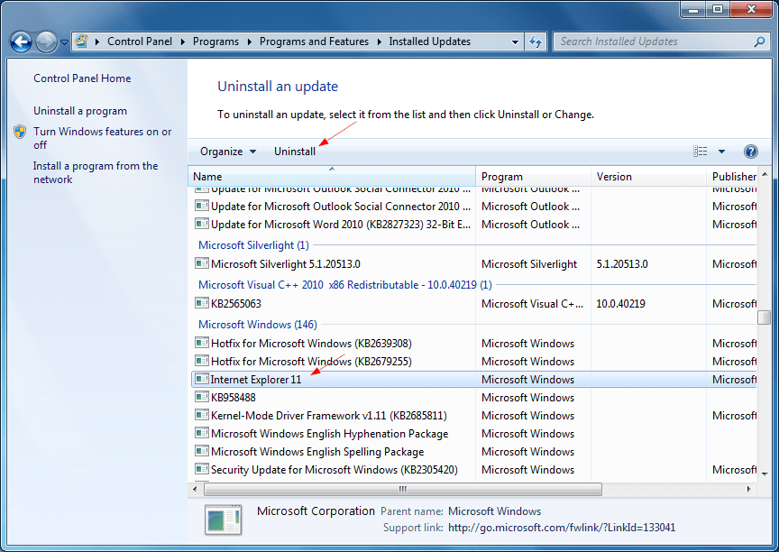 Removing internet explorer 11 in windows 7 8 and 8 1 next of windows - Internet multi server control panel ...